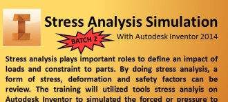 STRESS ANALYSIS SIMULATION WITH AUTODESK INVENTOR 2014 Batch 2