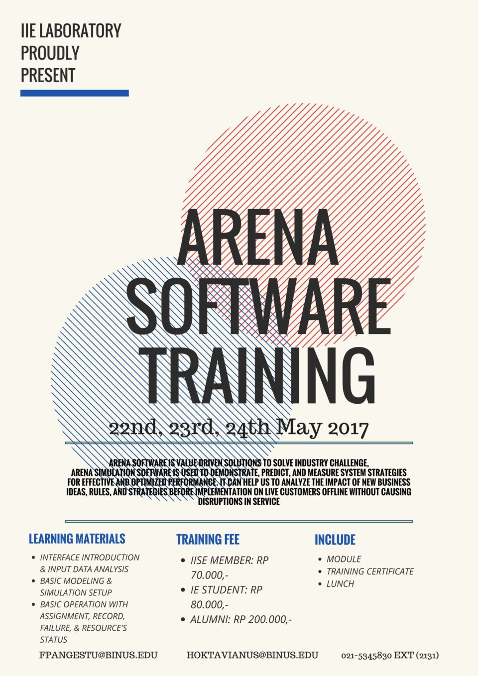 ARENA SOFTWARE TRAINING 2017