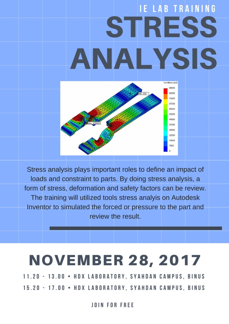 Stress Analysis Simulation with Autodesk Inventor 2017 – Industrial