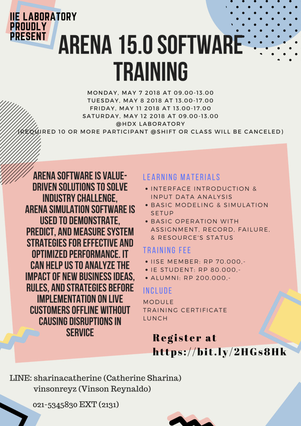 ARENA 15.0 Software Training 2018